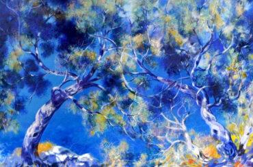 Omaggio a Capri olio su tela 80 x 60